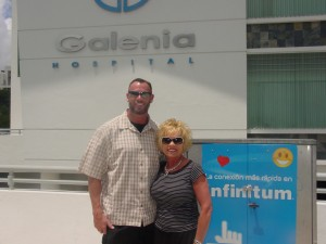 Galenia Hospital Cancun Mexico Me and my sister Cindy before going in for HIFU